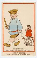 WW1 .REQUISITION ...le devoir avant tout .PATRIOTIQUE. CHEVAL DE BOIS. PATRIOTIC