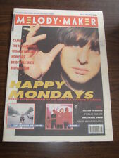 MELODY MAKER 1990 NOVEMBER 10 HAPPY MONDAYS CRANES TEENAGE FANCLUB AXL ROSE