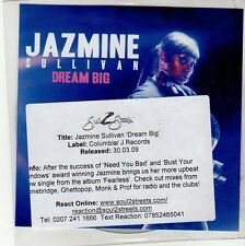 (EQ285) Jazmine Sullivan, Dream Big - 2009 DJ CD