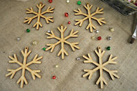 Hanging Christmas Snowflake shape – MDF X5 Ready To Decorate, Tree Decorations