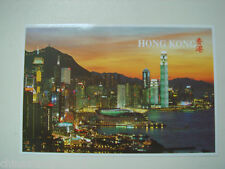old China HK postcard,beautiful dust scene of central and wanchai,unused