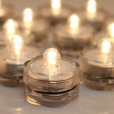 LED Submersible Waterproof Wedding Xmas Floral Decor light Candles Warm White