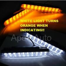 12v 2 x LED DAYTIME RUNNING LIGHT DRL INDICATOR TURN SIGNAL LAMP OFF ROAD BOAT