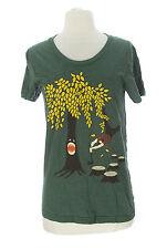 AMERICAN APPAREL Girl's The 50/50 Shirt Green/Multi Graphic T-Shirt Sz XL NEW