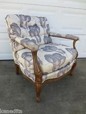 French Arm Chair Bernhardt Victorian STY Queen Anne Bergere Regency Fauteuil