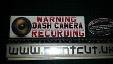 WARNING DASH CAMERA RECORDING  HD lens Sticker x1, Car, Van, Lorry, safety bike
