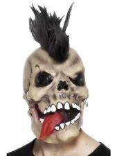 New Unisex Punk Rocker Skull Mask Hair Halloween Horror Theme Fancy Dress Fun