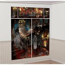 HAUNTED MANSION Scene Setter SCARY HOUSE Halloween Party Decoration Backdrop NEW