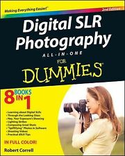 DIGITAL SLR PHOTOGRAPHY ALL-IN-ONE FOR DUMMIES  - ROBERT CORRELL (PAPERBACK) NEW
