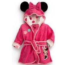 Kids Girls Boy Cartoon Nightwear Bath Robe Sleepwear Hooded Pajamas Clothes 1-6Y