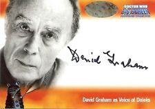 Dr Doctor Who Big Screen Additions Auto Card A2 David Graham - Voice of Daleks