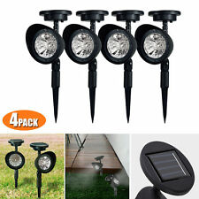 4 Pack Outdoor Garden 3-LED Solar Spot Flood Landscape Path Lights Lighting