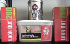 Look Out red 300 g American Blend  Tabak Zigarettentabak & 400 Hülsen & Dose