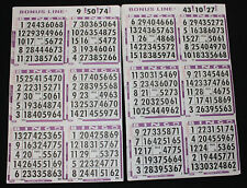 BINGO PAPER Cards, 6 on 1 Purple 500 sheets NO duplicates BONUS LINE  FREE SHIP