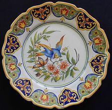 A101) Assiette ancienne DESVRES FOURMAINTRAUX décor Oiseau