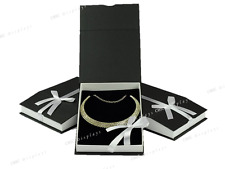LOT OF 3 NECKLACE BOX BLACK JEWELRY BOX LARGE NECKLACE BOX SHOWCASE GIFT BOX
