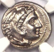Alexander the Great III AR Drachm Coin 336 BC - Certified NGC Choice AU - Rare!