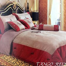 Embroidery Printed Texas Western Horse Luxury Comforter Suede 7 Pieces Set Queen