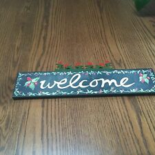 Nancy Thomas Welcome Sign Plaque and Flower~New