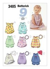 BUTTERICK Sewing Pattern Infants Babys Top+Rompers+Panties+Hat Sz NB-M ~3405
