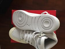 "Puma ""The Unlimited Hi Evo Lux"" White Sneakers ( 8.5)$ 125"