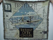 New Mill Street Design First Flight Centennia Tapestry Throw Blanket Afghan #240