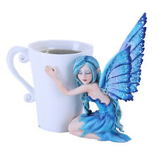 Amy Brown Coffee Comfort Relaxing Faery Fantasy Art Statue Tea Cup