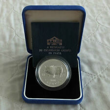 MACAU 1995 LUNAR YEAR OF THE PIG 100 PATACAS SILVER PROOF - boxed/coa