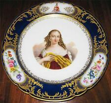 Antique Irish/French Tottenham Family Hand Painted Porcelain Portrait Plate