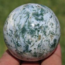 A++ Big 40mm 3OZ Natural Moss Agate Crystal Sphere Ball
