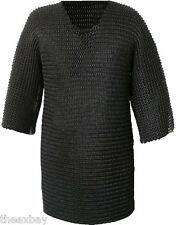 BLACK Metal Medieval Knight CHAINMAIL Chain Mail SHIRT Armor Super Strong!