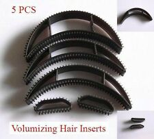 Bumpits 5 pc BLACK Hair Volumizing Plastic Leave-in Inserts for All Hair Types