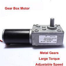 Ultrashort motor High-torque worm gear motor DC motor 4058GW 24V 35rpm 18.1KG