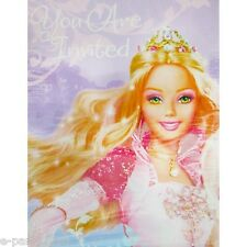 BARBIE 12 Dancing Princesses INVITATIONS (8)~ Birthday Party Supplies Card Note