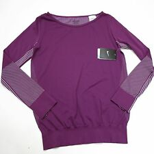 $85 Women's Nike  Dri-Fit Knit Epic Crew Shirt Size Small Purple Style 589296