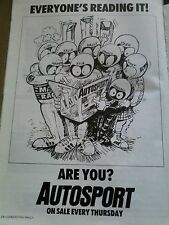 Autosport 1987 Stig Rally Cartoon Advert 30x20cm Motor Racing GP Formula F1