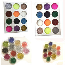 12pcs PET Glitter Pot Sets Body Face Eyes Tattoo Nail Art Festival Dance Crafts