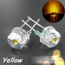 10PCS Yellow Super Bright 8mm Straw hat 0.5W Light-emitting Diodes Lamp LEDs