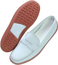 """DRIVING SHOES """"PRIVATE LABEL"""" KEY WEST WHITE 9M"""