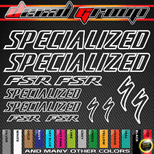 SPECIALIZED FSR MTB Replacement Frame Outlined Vinyl Decals Stickers 12pcs
