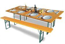 Mesa y bancos plegables de madera, las mesas cerveceras de la Oktoberfest