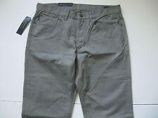 POLO RALPH LAUREN Men's Grey Varick Slim-Straight 5-Pocket Twill Pants 36x34