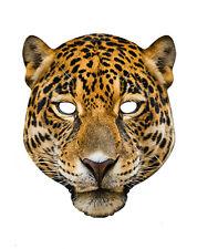 Léopard Animal carte unique 2D Fête Masque Visage gros chat à pois zoo