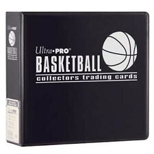 "Lot of 10 Ultra Pro 3"" Basketball Trading Card Collector's Album (Black) Binders"
