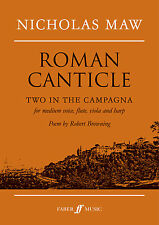 Roman Canticle Classical Voice Chamber Ensemble FLUTE VIOLA FABER Music BOOK