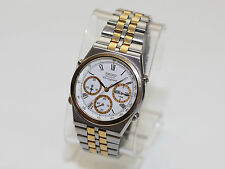 Vintage SEIKO 7A38-7289 Men's Chronograph Quartz Watch Mid 80's