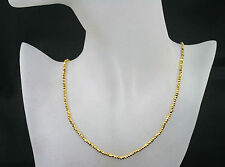 Pyrit Kette /- Collier in gold, facet., edel, 42,00ct.,925Silb. Karab. vergol.