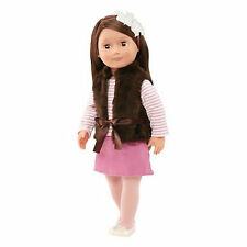 "Our Generation 18"" Sienna Doll Brown Hair & Eyes Fits American Girl Ships fast!"