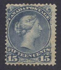 Canada 1868 Large Queen 15c blue grey #30a mint disturbed original gum