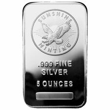 ON SALE! 5 oz Sunshine Silver Bar (New, MintMark SI, Sealed)